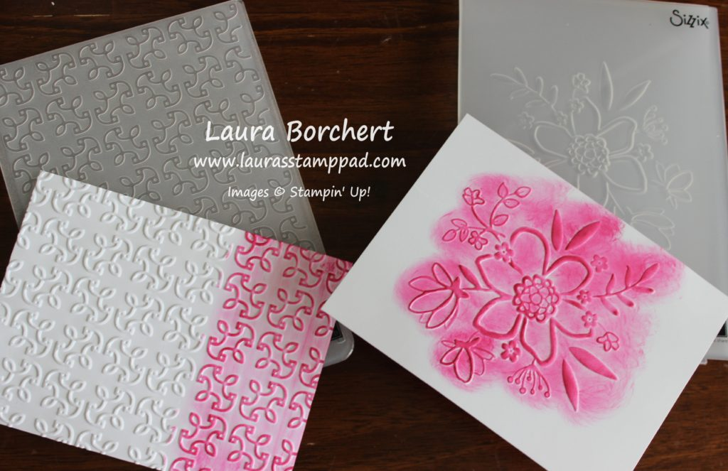 Layering Embossing Folders, www.LaurasStampPad.com
