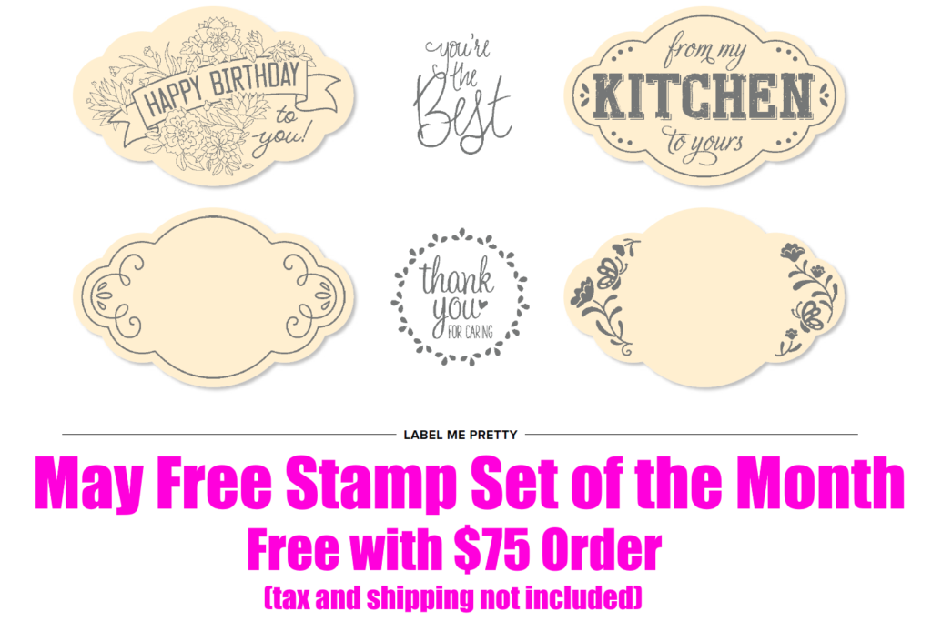 May 2018 Free Stamp Set of the Month, www.LaurasStampPad.com