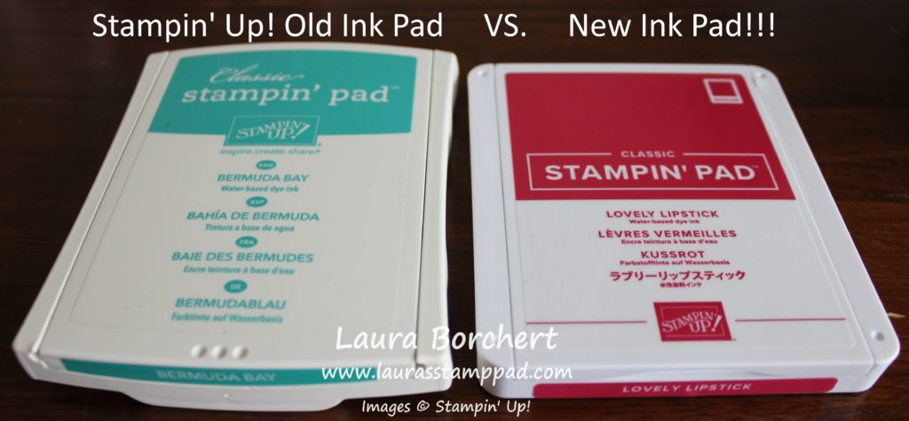 Old Ink Pad Vs New Ink Pad, www.LaurasStampPad.com