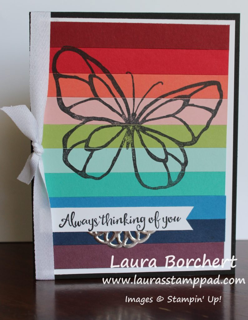 Rainbows & Butterflies, www.LaurasStampPad.com