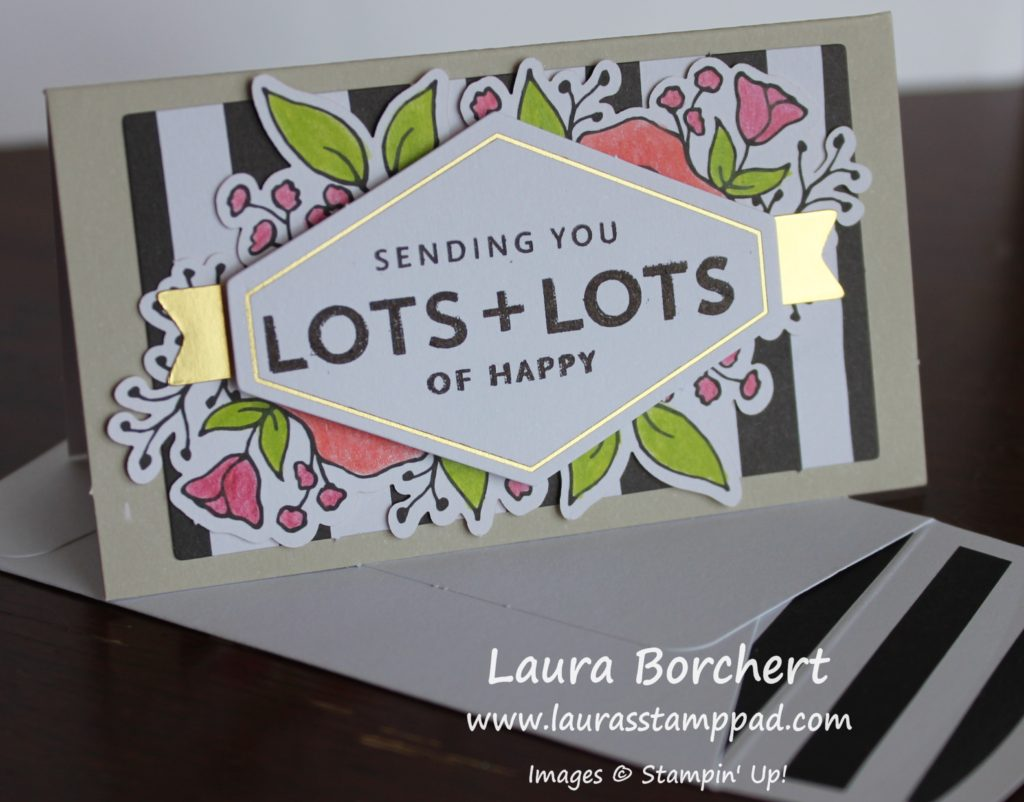 Sending Lots of Happy, www.LaurasStampPad.com