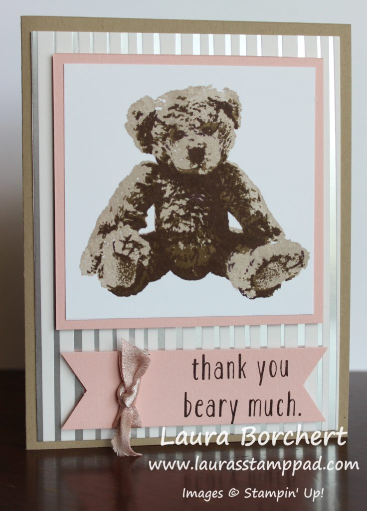 Thank You Beary Much, www.LaurasStampPad.com