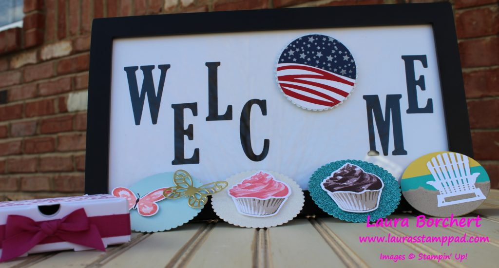 Welcome Frame & Decor, www.LaurasStampPad.com