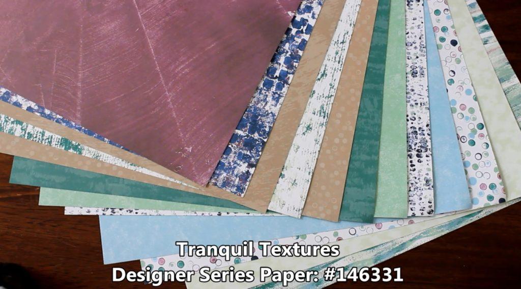 Tranquil Textures Designer Series Paper, www.LaurasStampPad.com