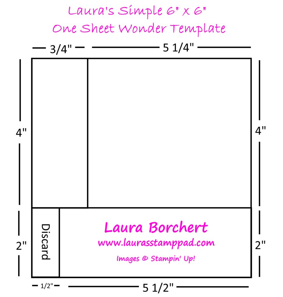 6x6 One Sheet Wonder, www.LaurasStampPad.com
