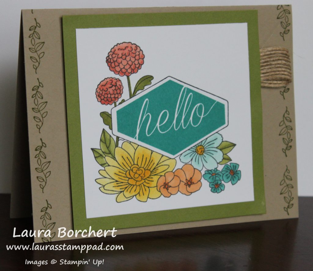 Coloring with the Accented Blooms Stamps, www.LaurasStampPad.com
