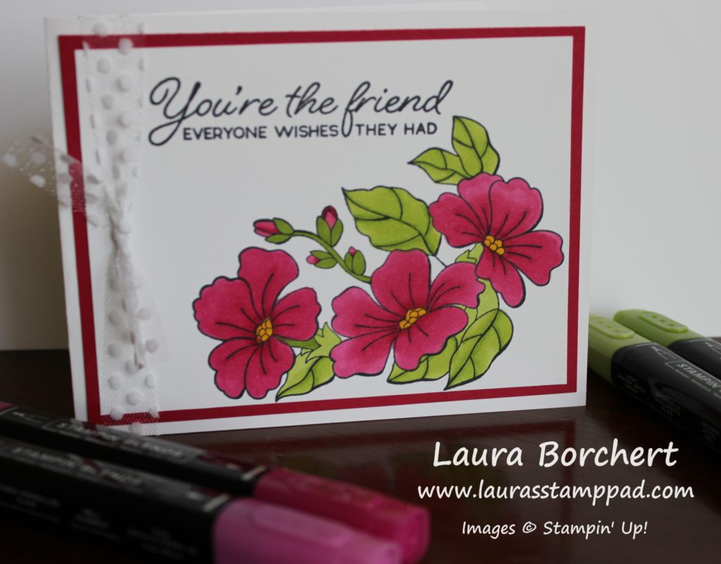 Coloring Flowers with Stampin' Blends, www.LaurasStampPad.com