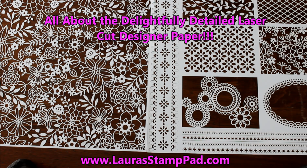 Delightfully Detailed Designer Paper, www.LaurasStampPad.com