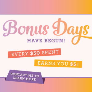 Bonus Bucks in August, www.LaurasStampPad.com