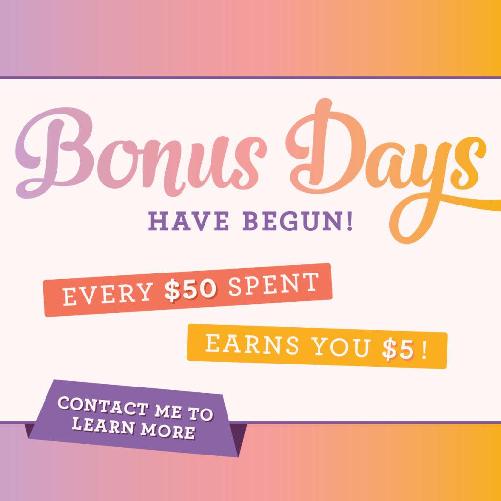 Bonus Bucks, www.LaurasStampPad.com