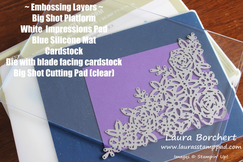 Embossing with Dies, www.LaurasStampPad.com
