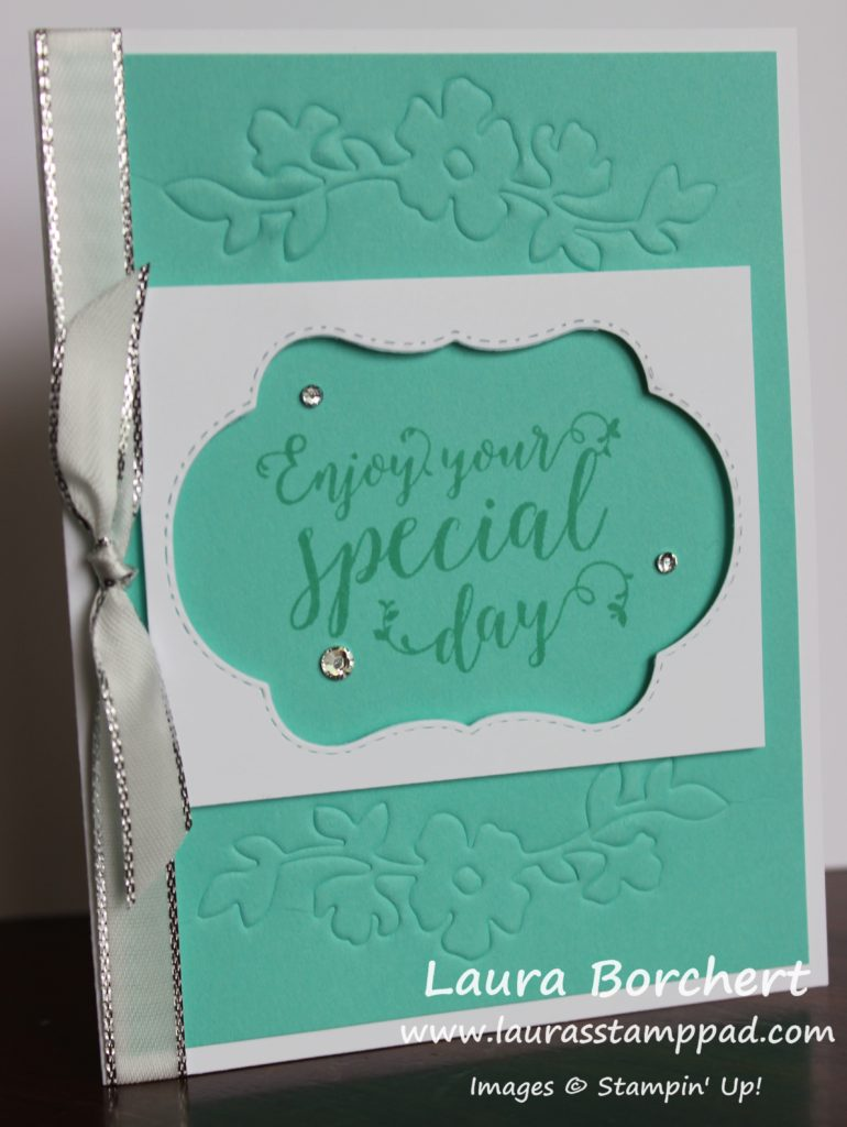 Embossing with Framelits, www.LaurasStampPad.com