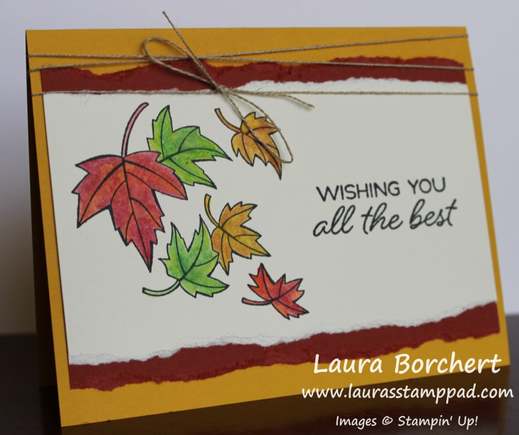 Blending Fall Colors, www.LaurasStampPad.com