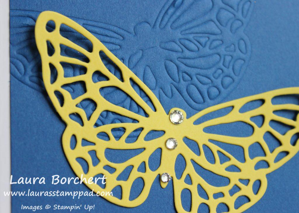 Impressed Butterfly, www.LaurasStampPad.com