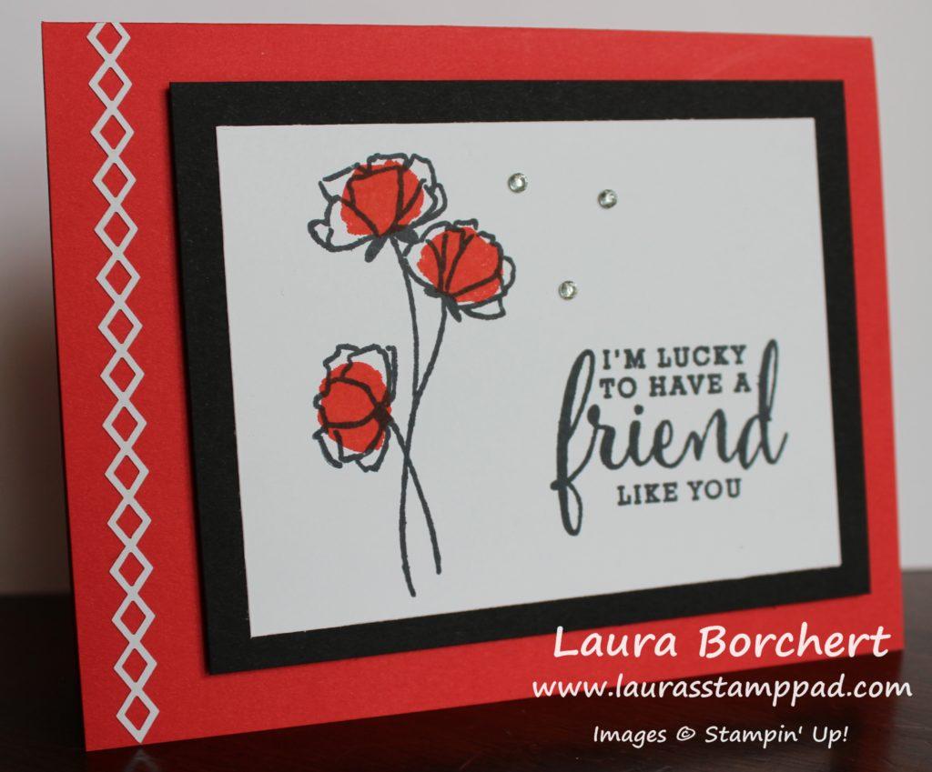 Poppy Parade Flowers, www.LaurasStampPad.com