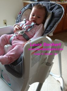 Claire in Highchair, www.LaurasStampPad.com