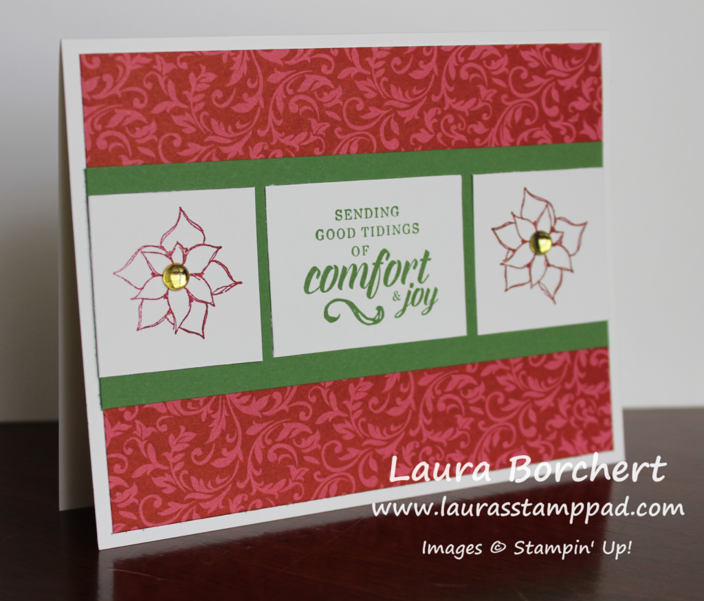 Comfort and Joy, www.LaurasStampPad.com
