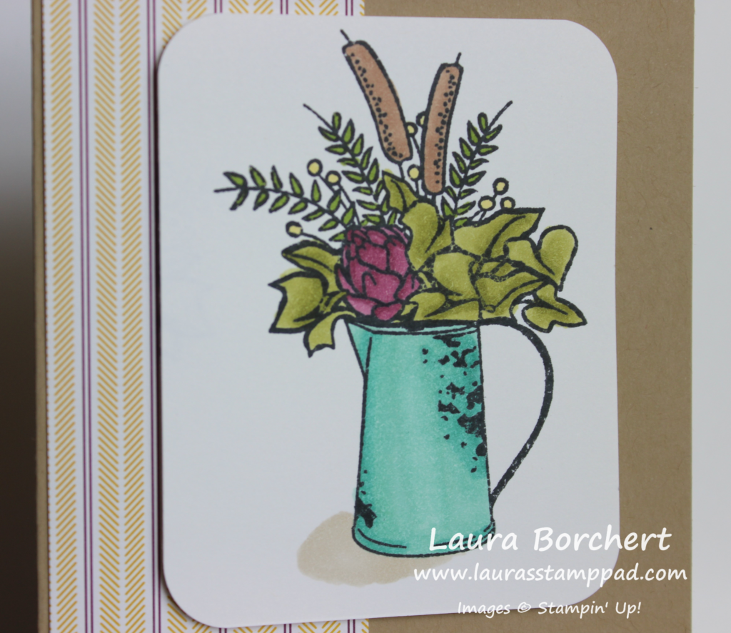 Creating a Shadow with Stampin' Blends, www.LaurasStampPad.com