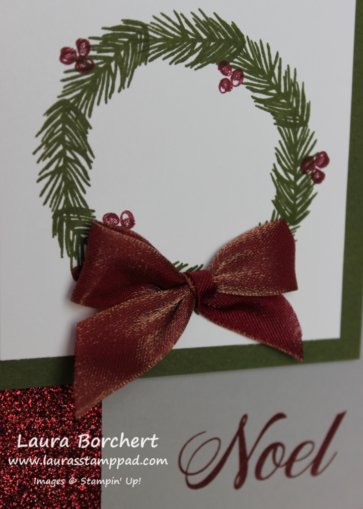 Peaceful Noel Wreath, www.LaurasStampPad.com