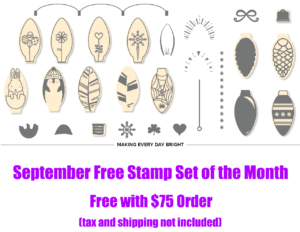 September 2018 Free Stamp Set of the Month, www.LaurasStampPad.com
