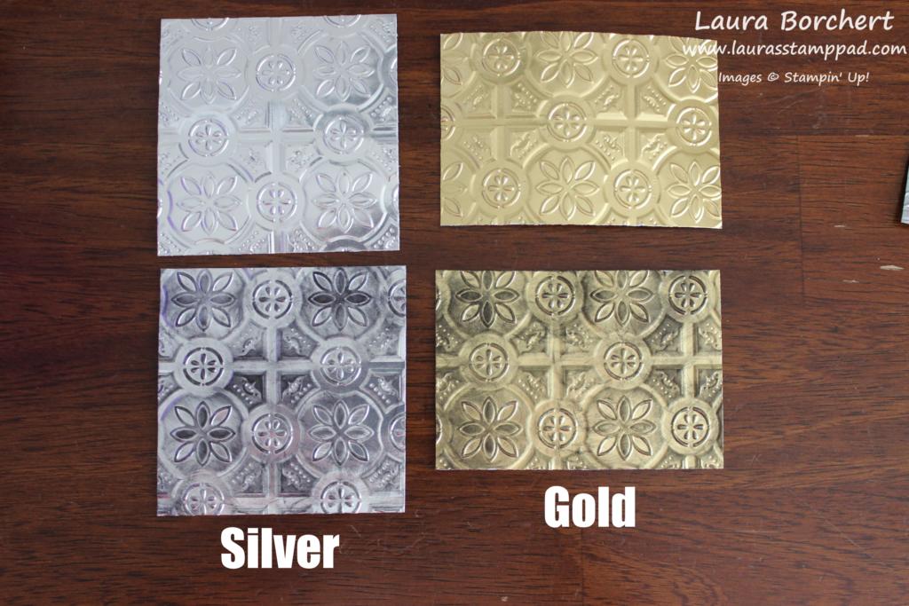 Silver & Gold, www.LaurasStampPad.com