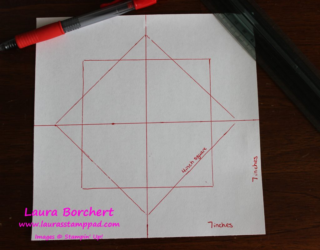Square Template, www.LaurasStampPad.com