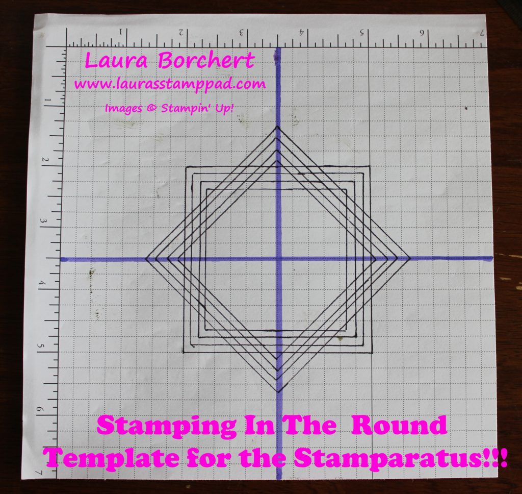 Template For The Stamparatus, www.LaurasStampPad.com