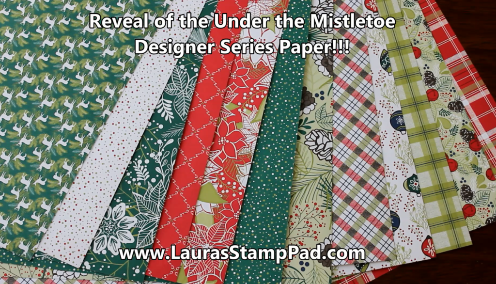 Last Video of Designer Paper, www.LaurasStampPad.com