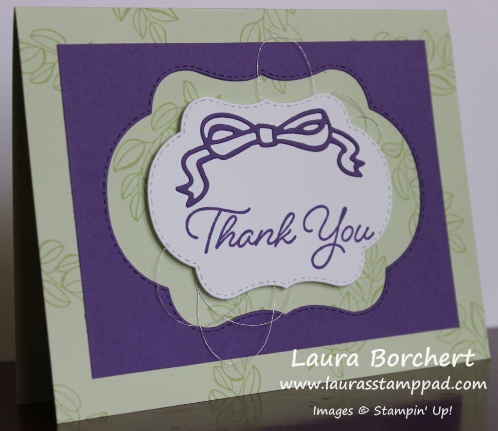 Using the Negative Die Cut, www.LaurasStampPad.com