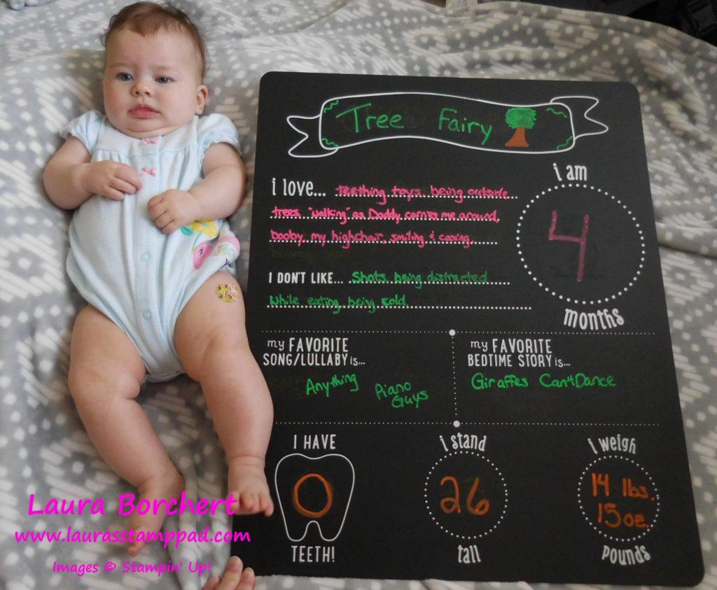 4 months, www.LaurasStampPad.com