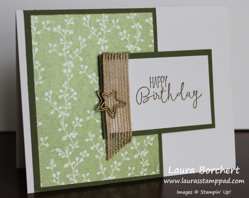 Birthday Star, www.LaurasStampPad.com