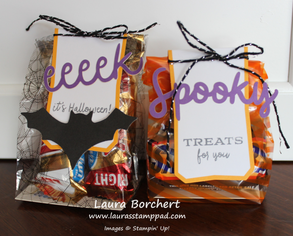 Eeeek Spooky Treat Bag, www.LaurasStampPad.com