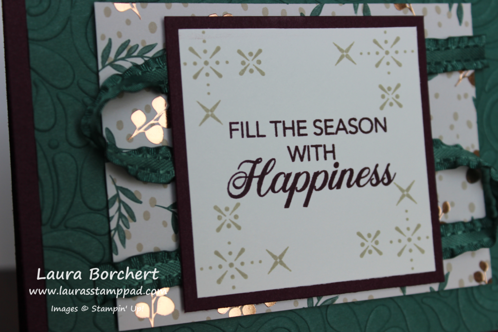 Fill The Season With Happiness, www.LaurasStampPad.com