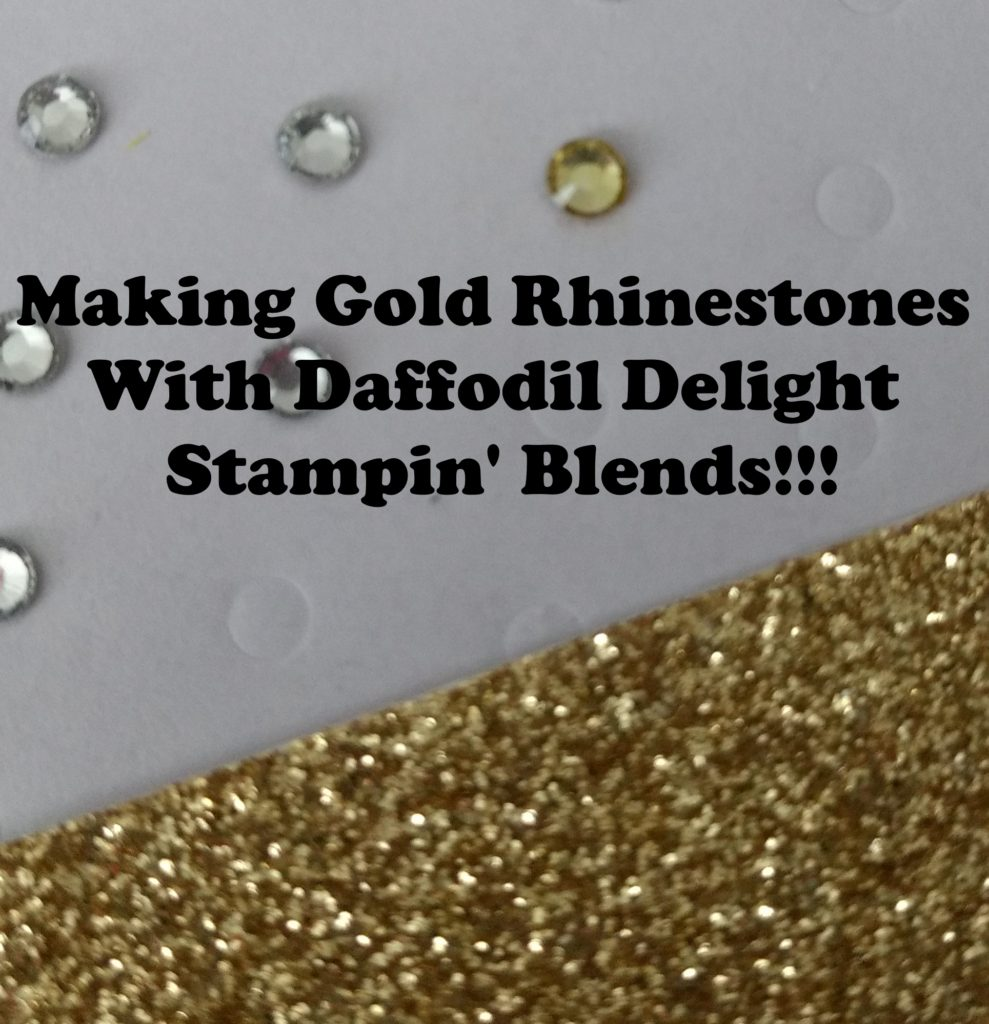 Turning Rhinestones into Gold Jewels, www.LaurasStampPad.com