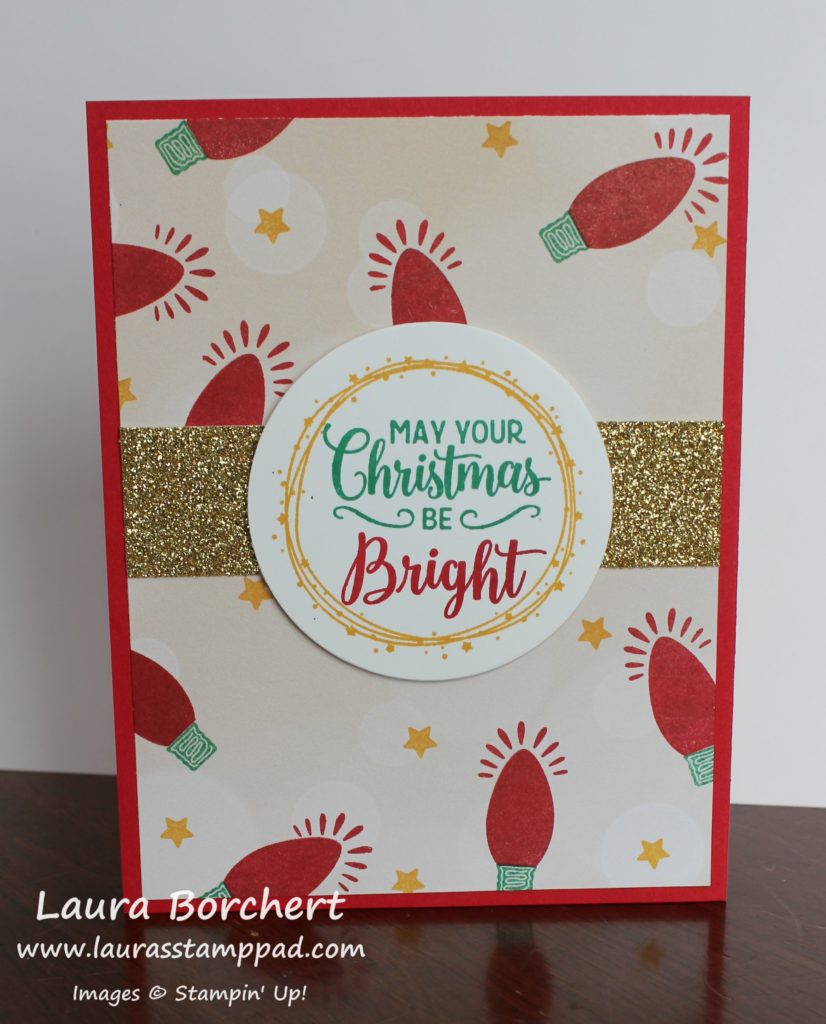 May Your Christmas Be Bright, www.LaurasStampPad.com