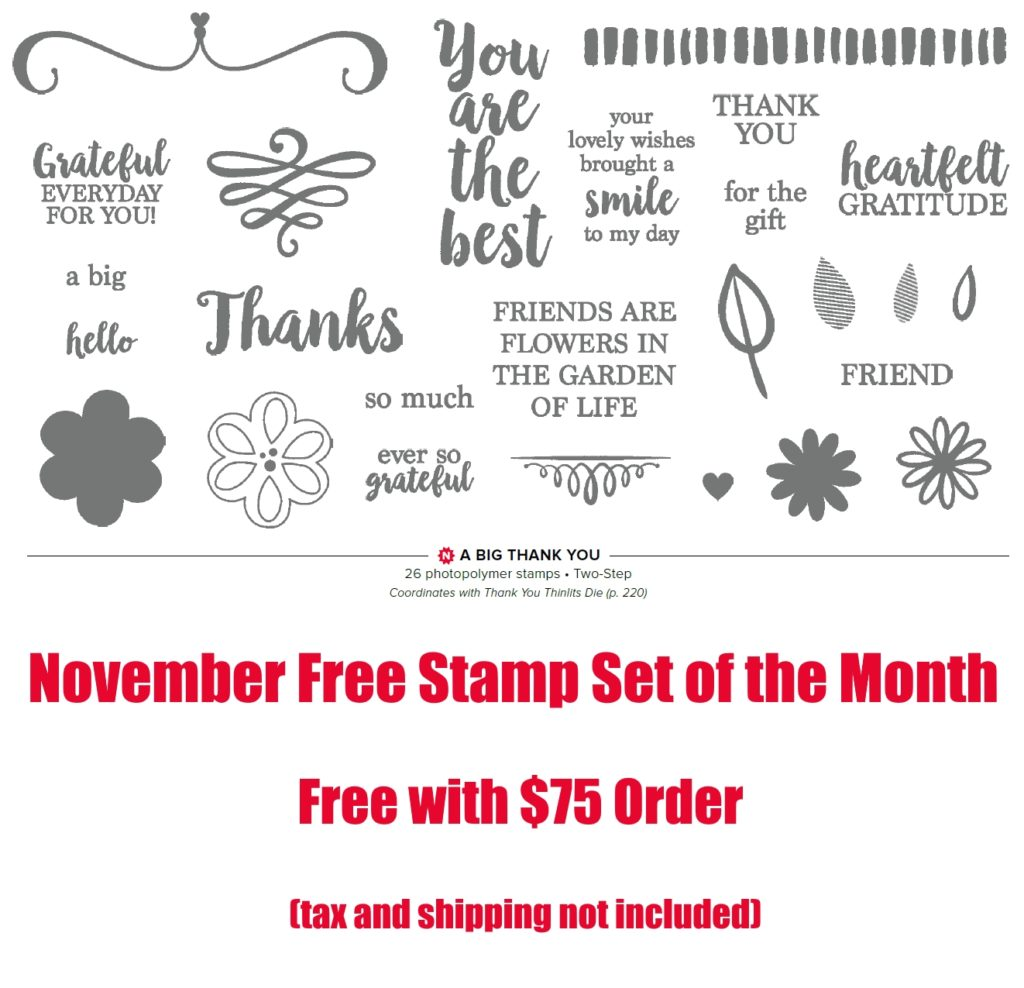 November Free Stamp Set, www.LaurasStampPad.com