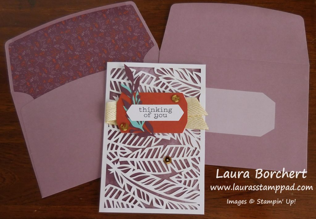 Purple Feather Cards, www.LaurasStampPad.com