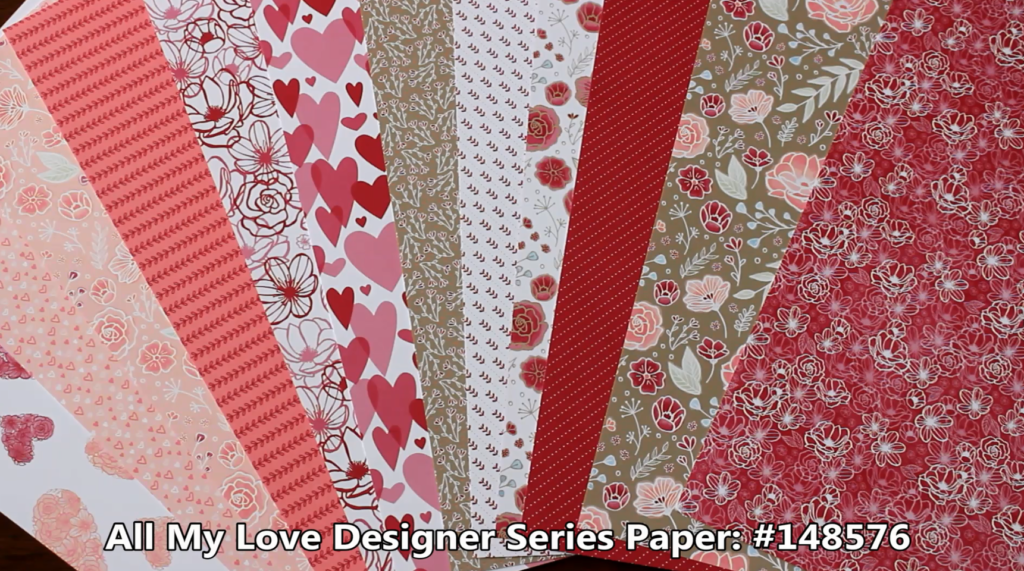All My Love Designer Series Paper, www.LaurasStampPad.com