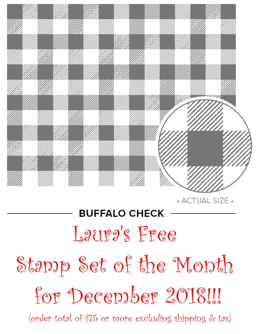 December 2018 Free Stamp Set of the Month, www.LaurasStampPad.com