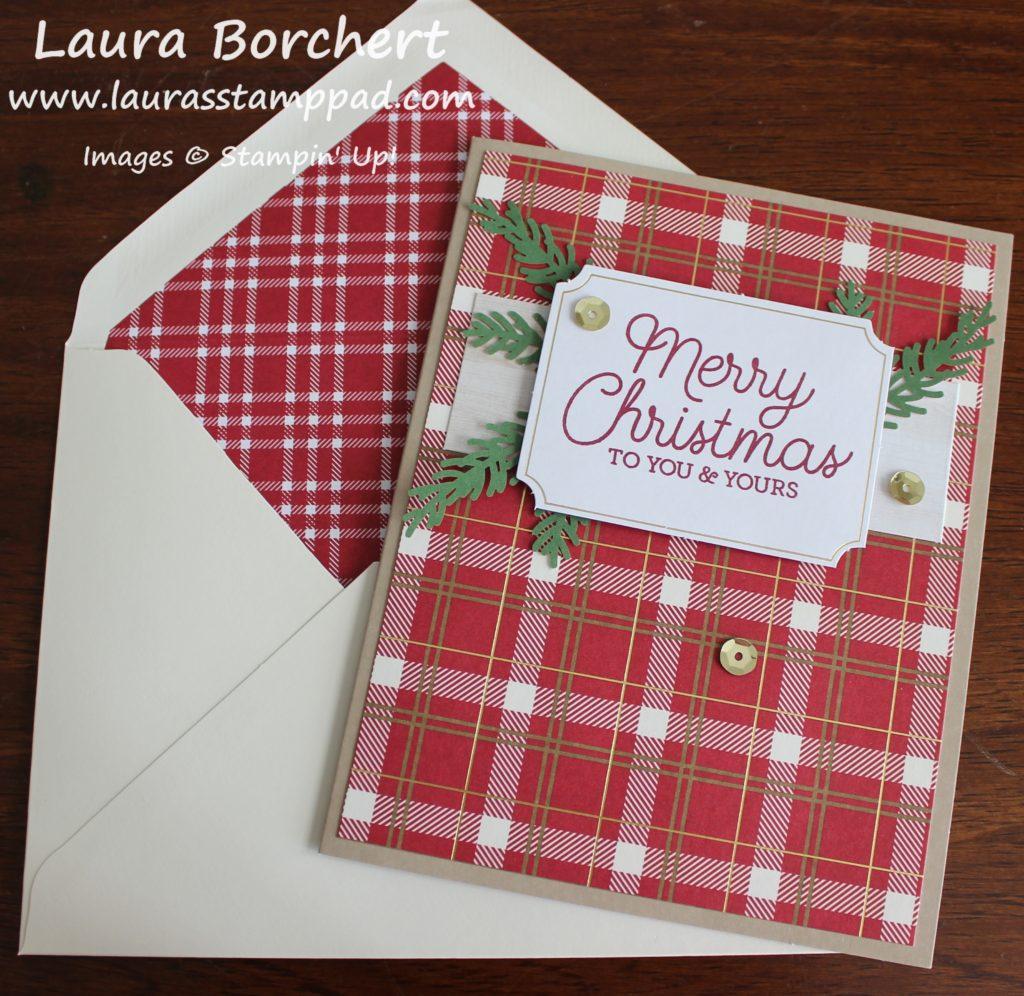 Christmas Greenery, www.LaurasStampPad.com