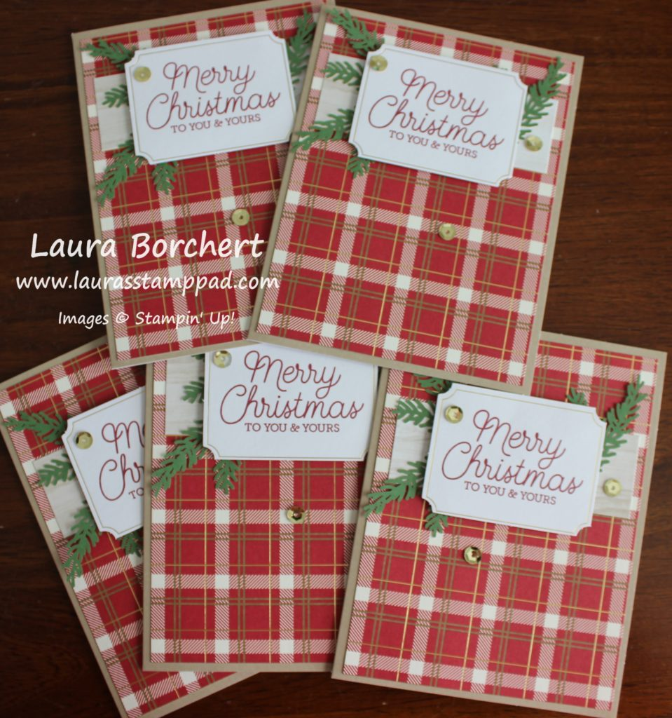 Dreaming of a Plaid Christmas, www.LaurasStampPad.com
