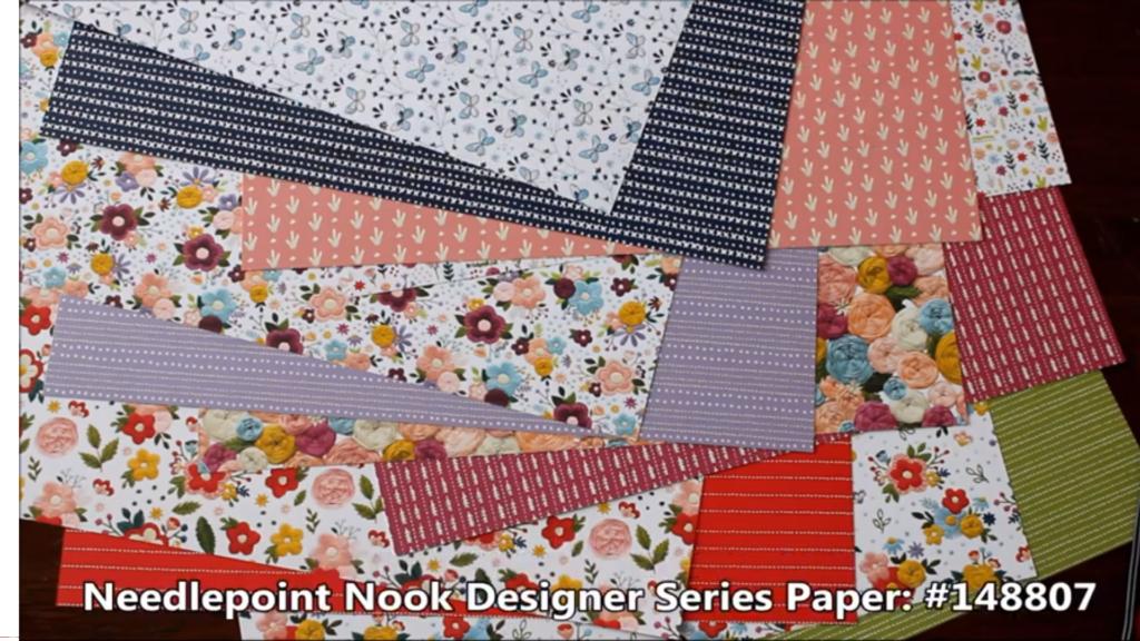Needlepoint Nook Designer Series Paper, www.LaurasStampPad.com