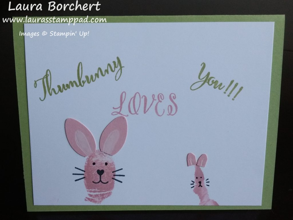 Thumbunny Loves You, www.LaurasStampPad.com