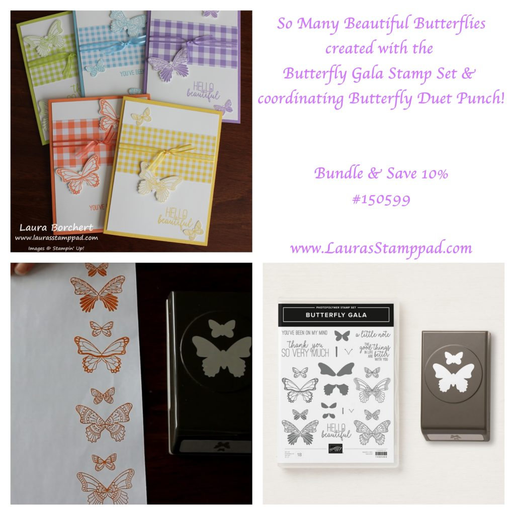 All Kinds of Butterflies, www.LaurasStampPad.com