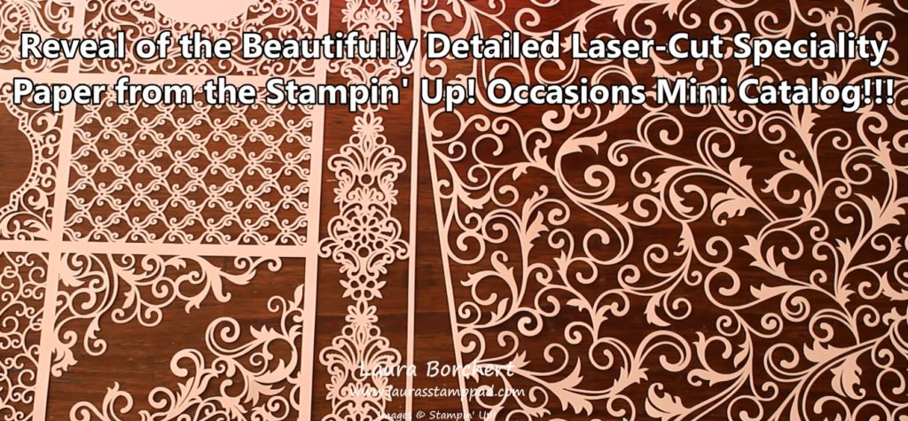 Beautifully Detailed Designer Paper, www.LaurasStampPad.com