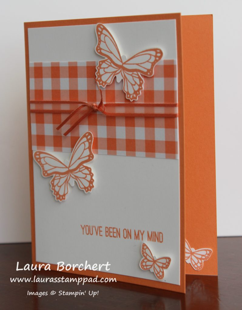 Orange Butterfly, www.LaurasStampPad.com