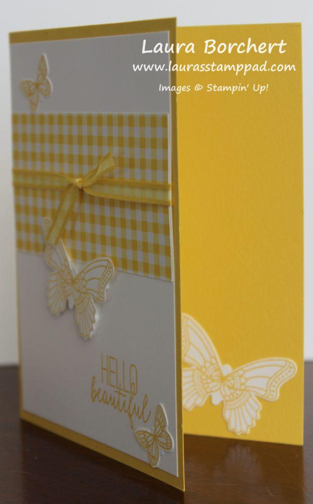 Yellow Butterflies, www.LaurasStampPad.com