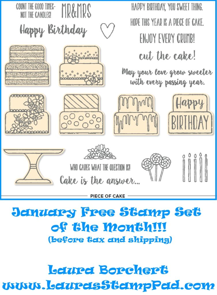 January Free Stamp Set of the Month, www.LaurasStampPad.com