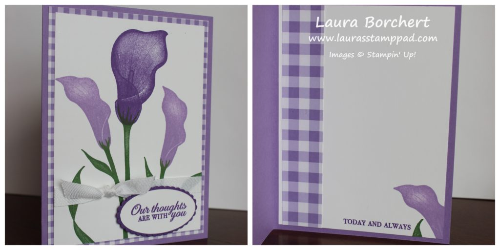 Shades of Purple Lilies, www.LaurasStampPad.com
