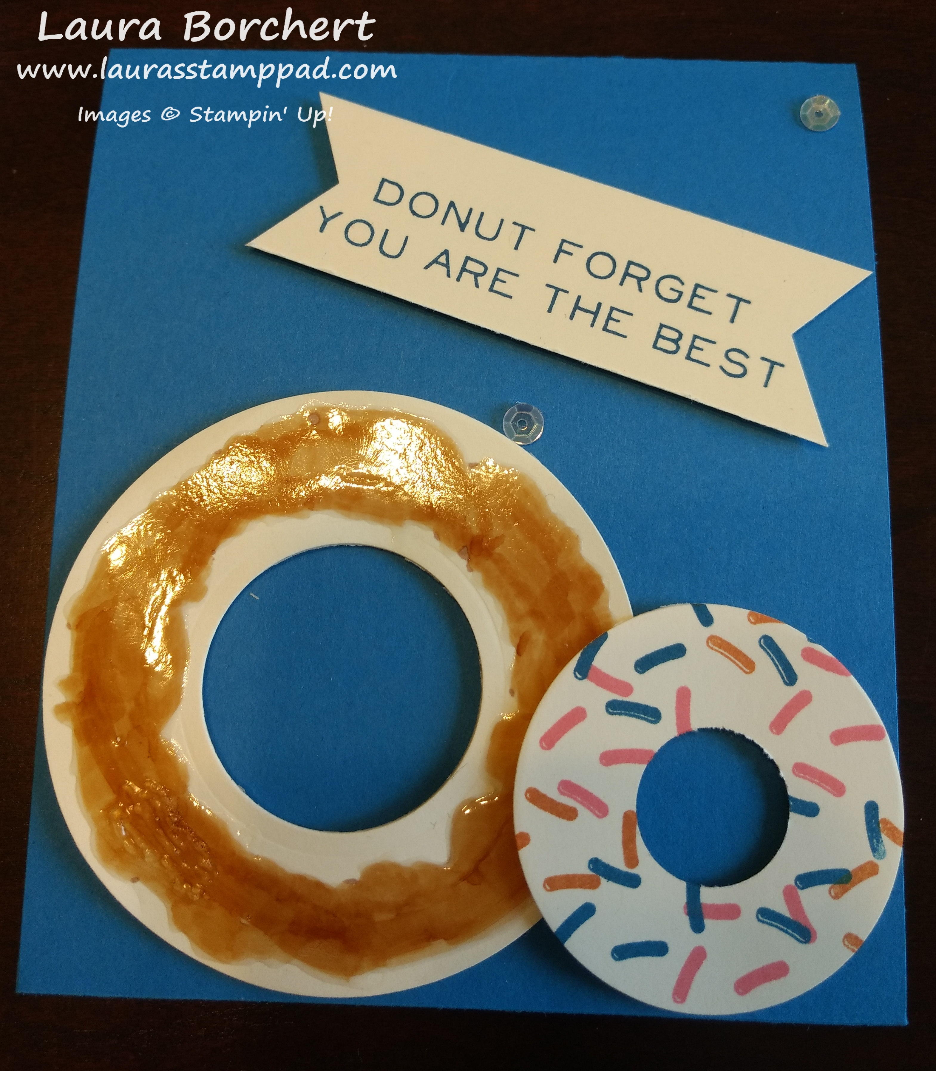 Donut Love, www.LaurasStampPad.com
